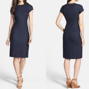 Tory Burch Portia Stretch Wool Sheath Dress
